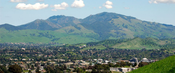 Walnut Creek, CA - Nestled up to the western slope of Mt. Diablo. The hills still have their early spring green.